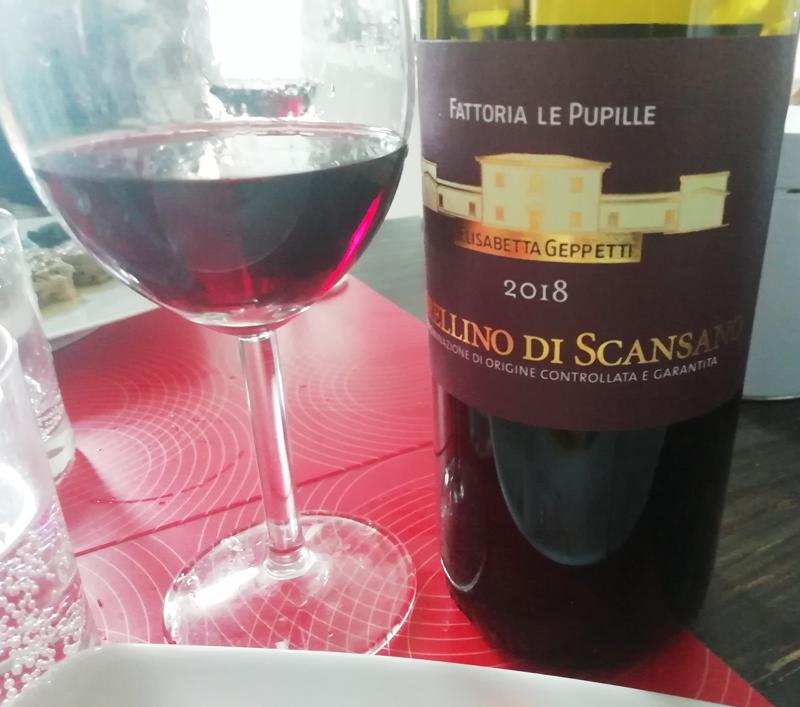 Morellino di Scansano 2018 - Fattoria Le Pupille un Ottimo Vino per il Filetto al Pepe Verde